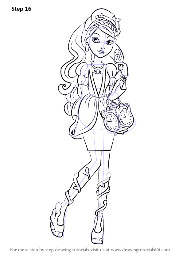 Learn How To Draw Ashlynn Ella From Ever After High Ever