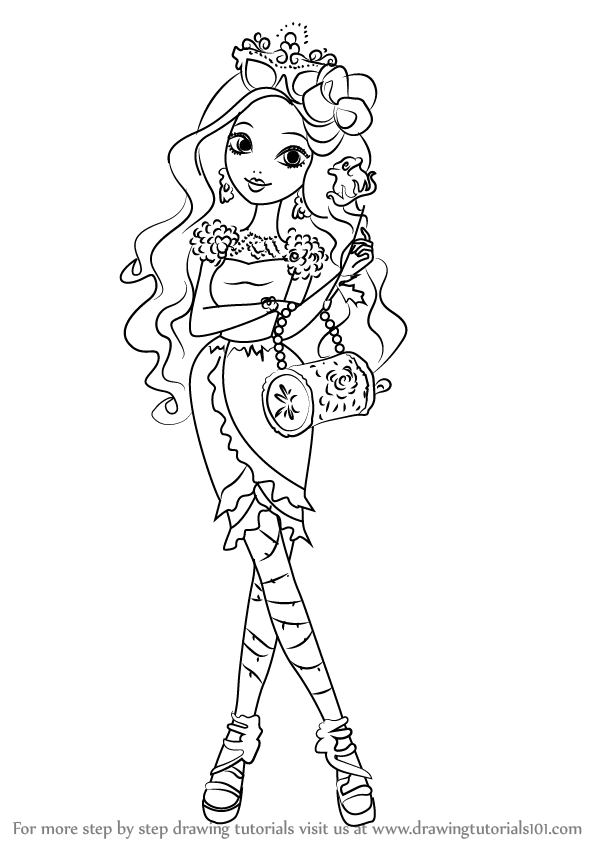 how to draw ever after high dolls