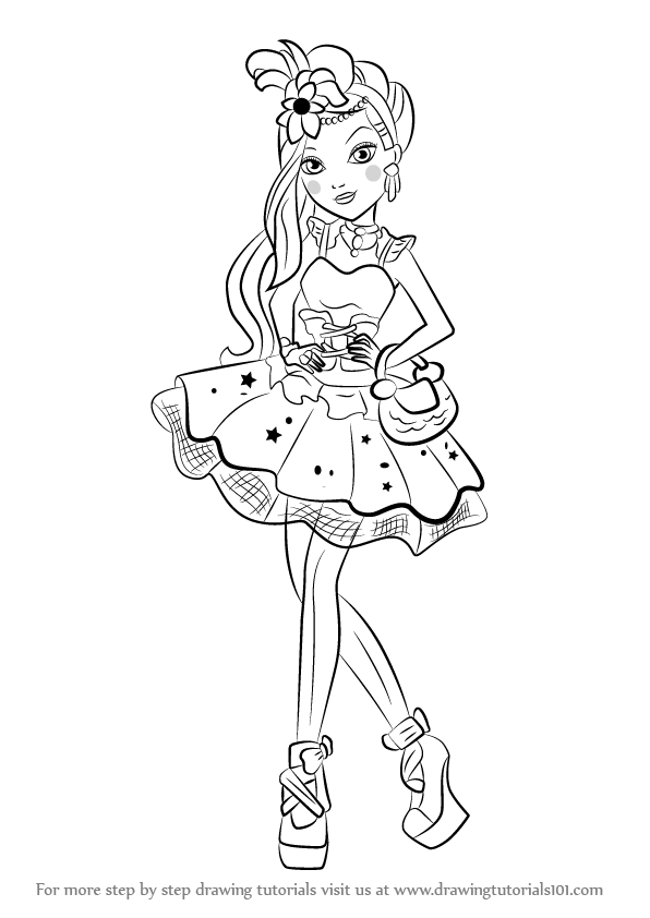 learn how to draw duchess swan from ever after high ever after high step by step drawing tutorials