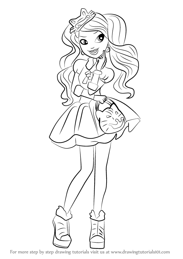 How To Draw Kitty Cheshire From Ever After High