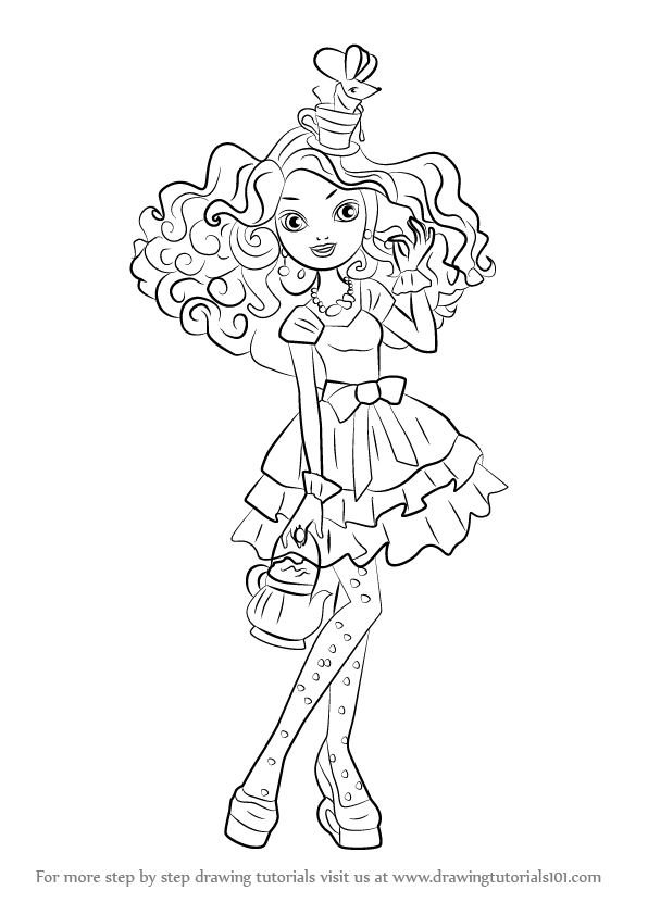 How To Draw Madeline Hatter From Ever After High