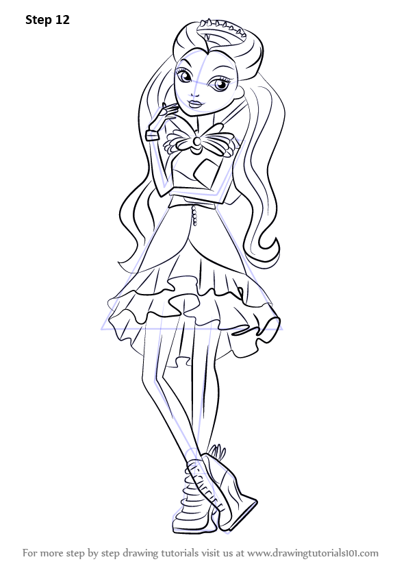 Learn How To Draw Raven Queen From Ever After High Ever