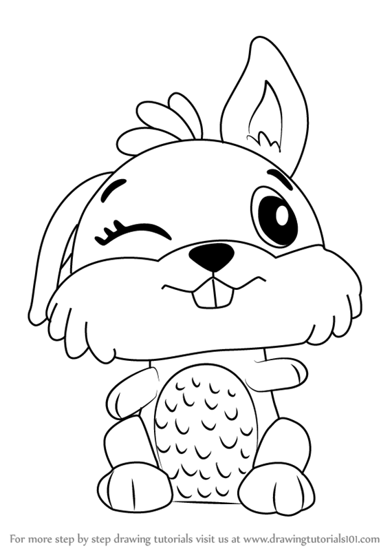 Learn How to Draw Bunwee from Hatchimals