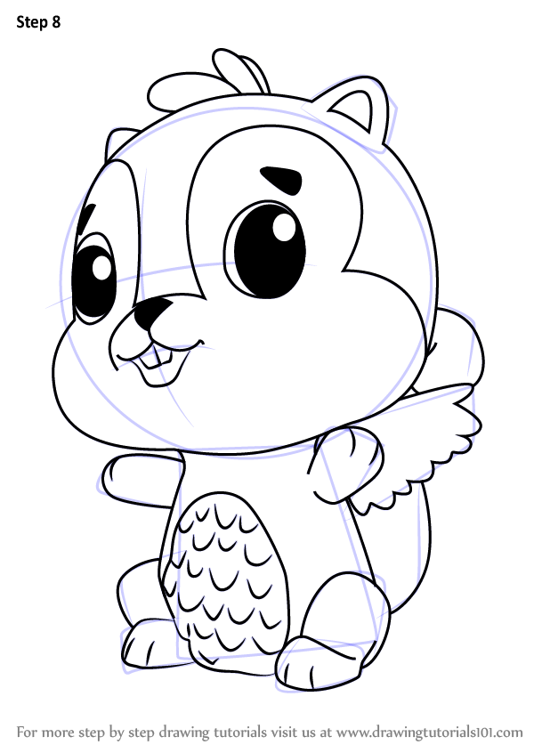 learn how to draw chipadee from hatchimals hatchimals