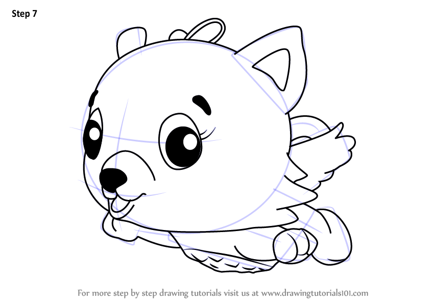 learn how to draw cloud kittycan from hatchimals