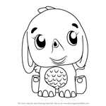 How to Draw Elefly from Hatchimals