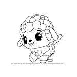 How to Draw Lamblet from Hatchimals