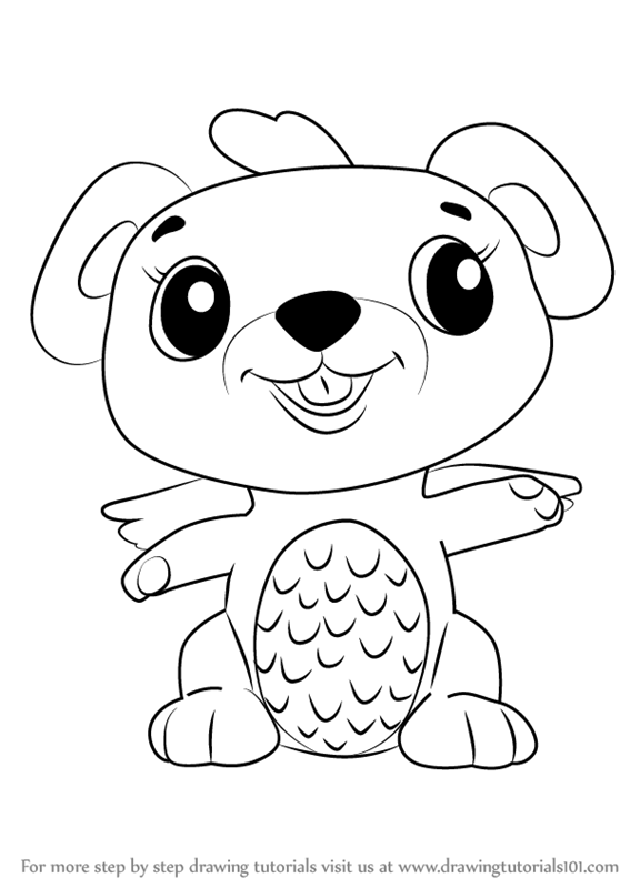 Learn How To Draw Mouseswift From Hatchimals Hatchimals