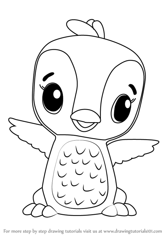 kids drawing pages coloring sheets | Learn How to Draw Penguala from Hatchimals (Hatchimals ...