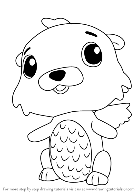 Learn How To Draw Swotter From Hatchimals Hatchimals