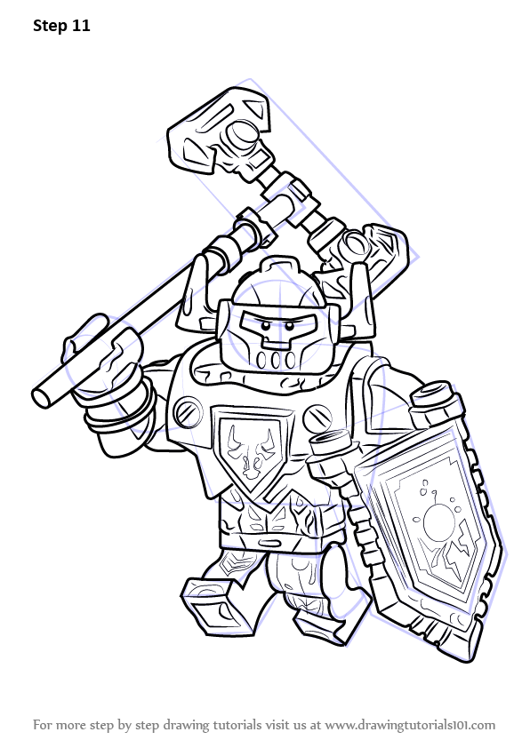 - Learn How To Draw Axl From Lego Nexo Knights (Lego Nexo Knights) Step By  Step : Drawing Tutorials