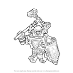 How to Draw Axl from Lego Nexo Knights