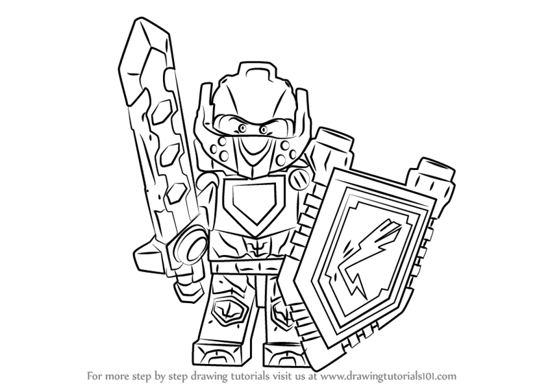 Step By Step How To Draw Clay From Lego Nexo Knights
