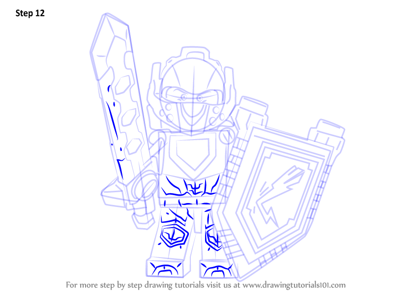 Learn How To Draw Clay From Lego Nexo Knights Lego Nexo