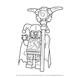How to Draw Jestro from Lego Nexo Knights