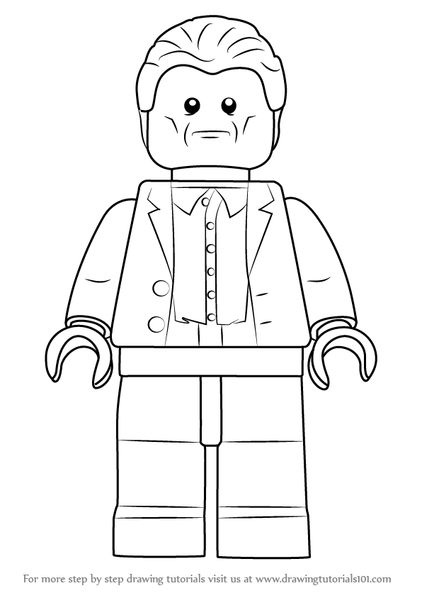 Step by Step How to Draw Lego Aldrich