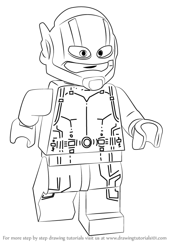 learn how to draw lego ant man lego step by step drawing tutorials