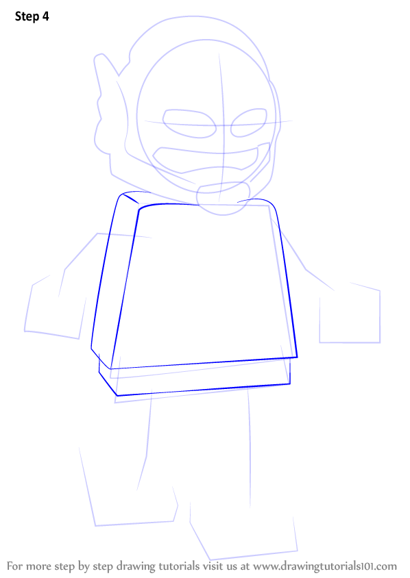 how to draw lego superheroes step by step
