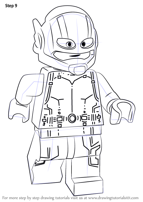 Learn How to Draw Lego AntMan