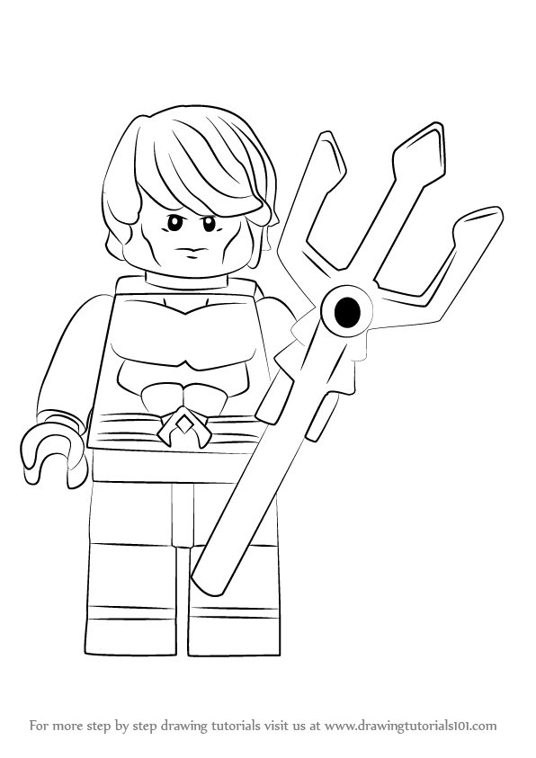 Learn How To Draw Lego Aquaman Lego Step By Step