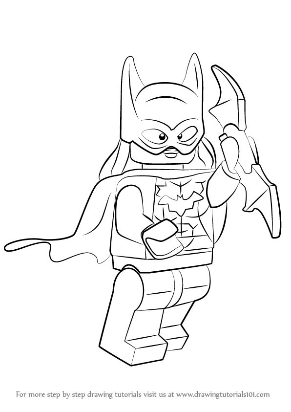 Learn How to Draw Lego Batgirl (Lego) Step by Step