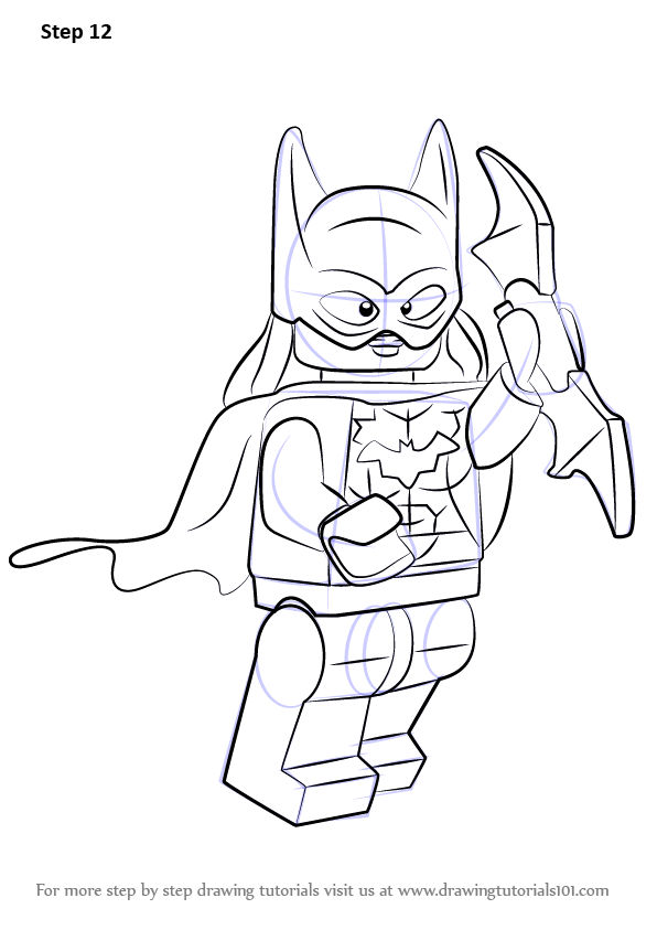 learn how to draw lego batgirl  lego  step by step