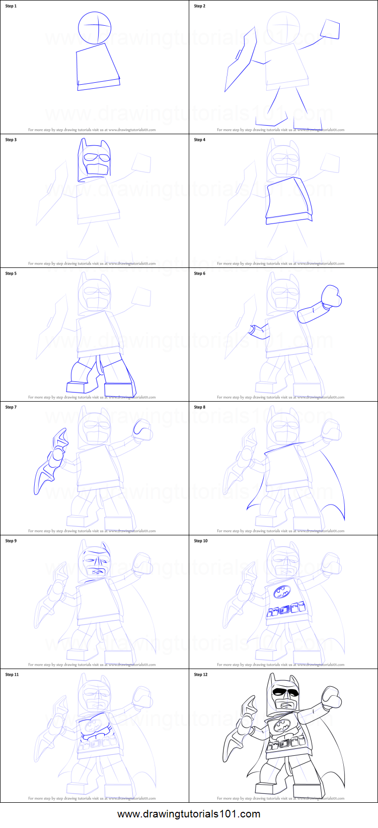 how to draw lego characters