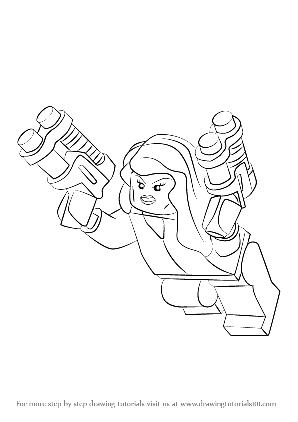 Lego Black Widow Superheroes Coloring Pages