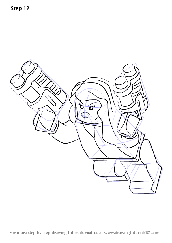 Learn how to draw lego black widow lego step by step for Free online drawing lessons step by step
