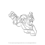 How to Draw Lego Black Widow