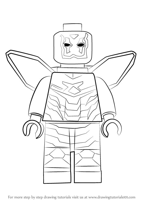Learn how to draw lego blue beetle lego step by step for Blue beetle coloring pages