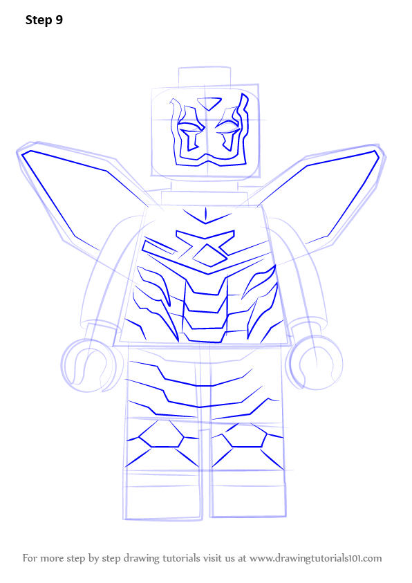 Learn How To Draw Lego Blue Beetle Lego Step By Step