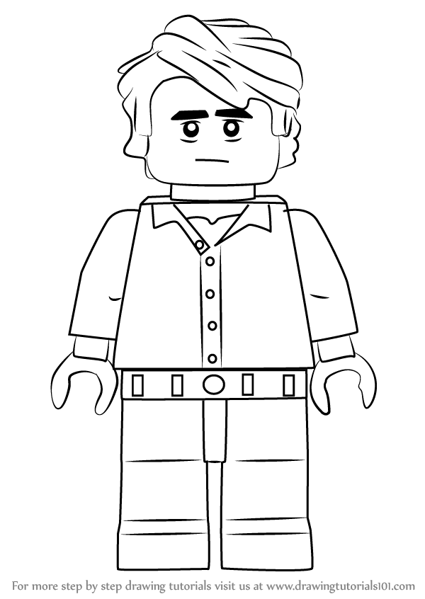 Learn How To Draw Lego Bruce Banner Lego Step By Step Drawing