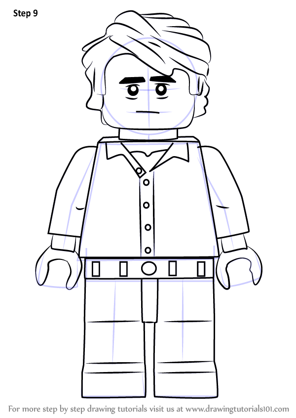 Learn How To Draw Lego Bruce Banner Lego Step By Step