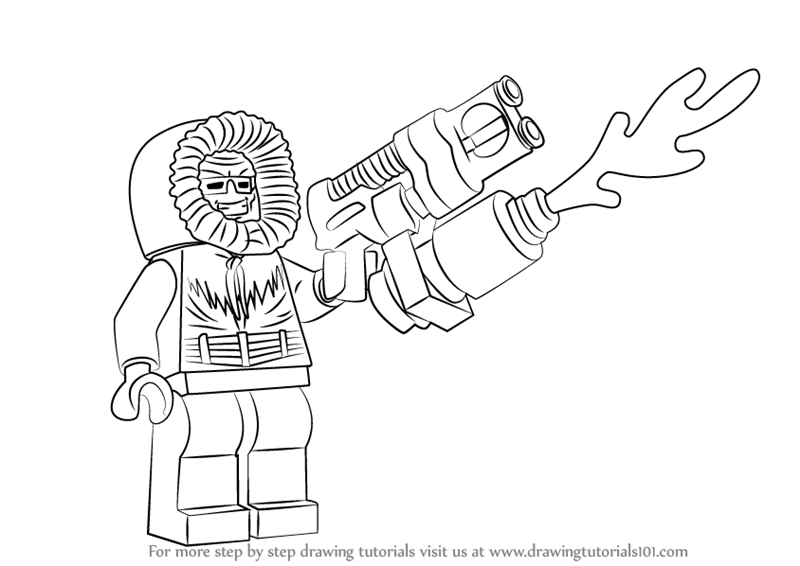 Learn How To Draw Lego Captain Cold Lego Step By Step Drawing Tutorials