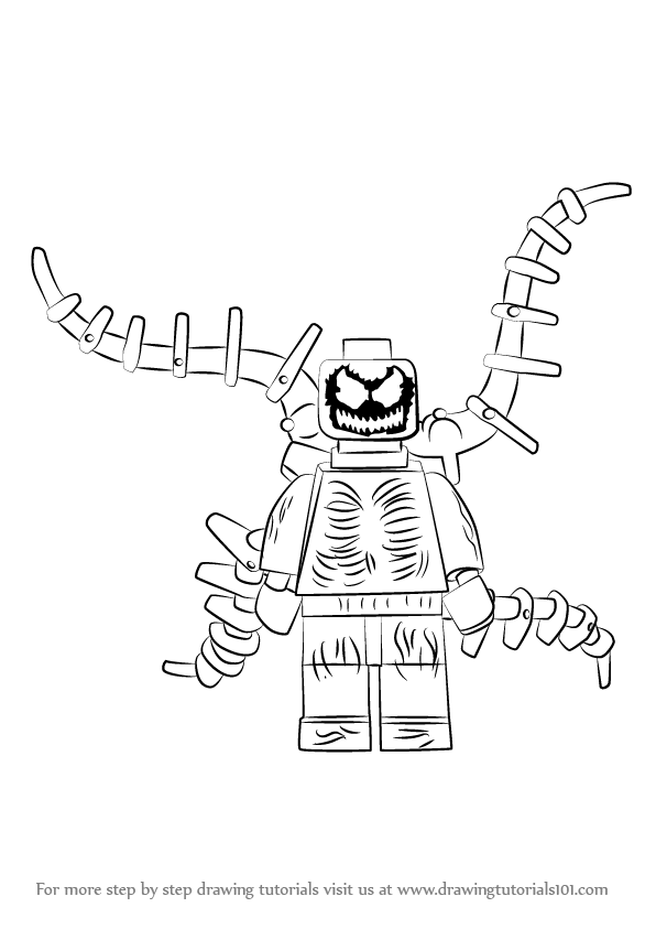 learn how to draw lego carnage  lego  step by step