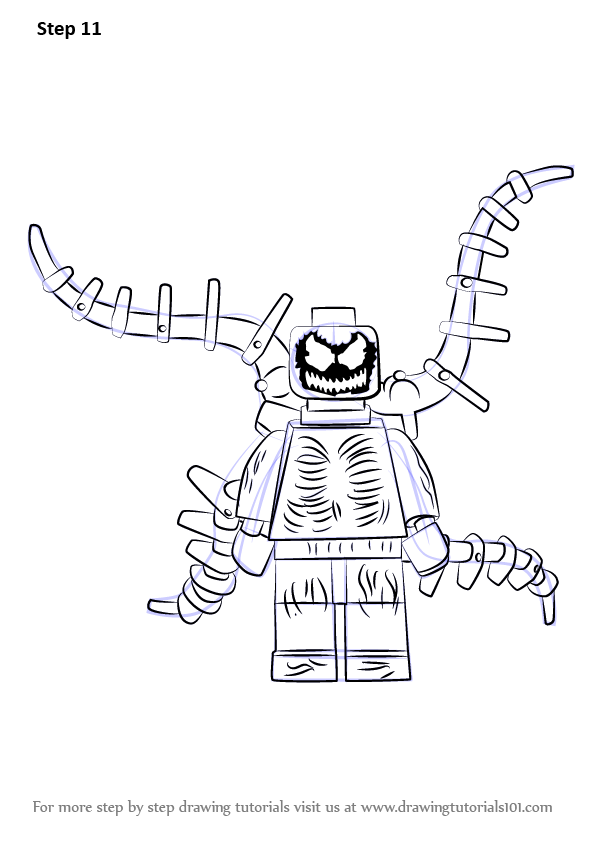 Step By Step How To Draw Lego Carnage