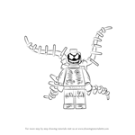 How to Draw Lego Carnage