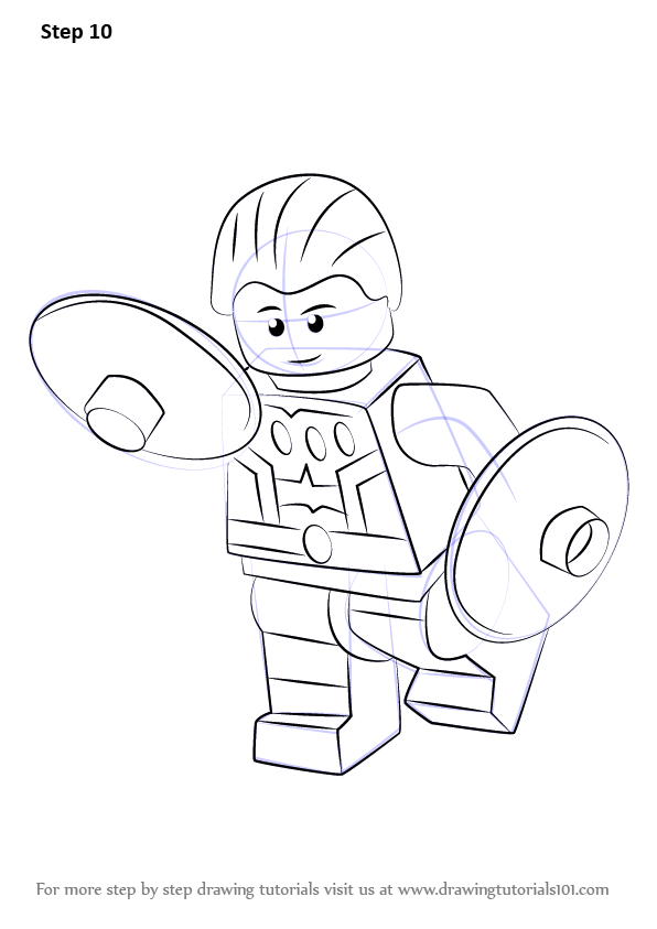 Learn How To Draw Lego Cosmic Boy Lego Step By Step