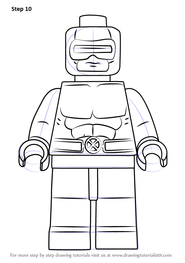 learn how to draw lego cyclops  lego  step by step