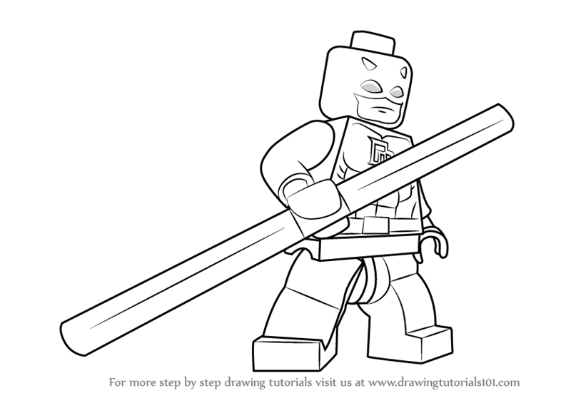 Learn How to Draw Lego Daredevil (Lego) Step by Step ...