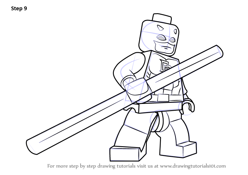Learn How to Draw Lego Daredevil