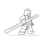 How to Draw Lego Daredevil