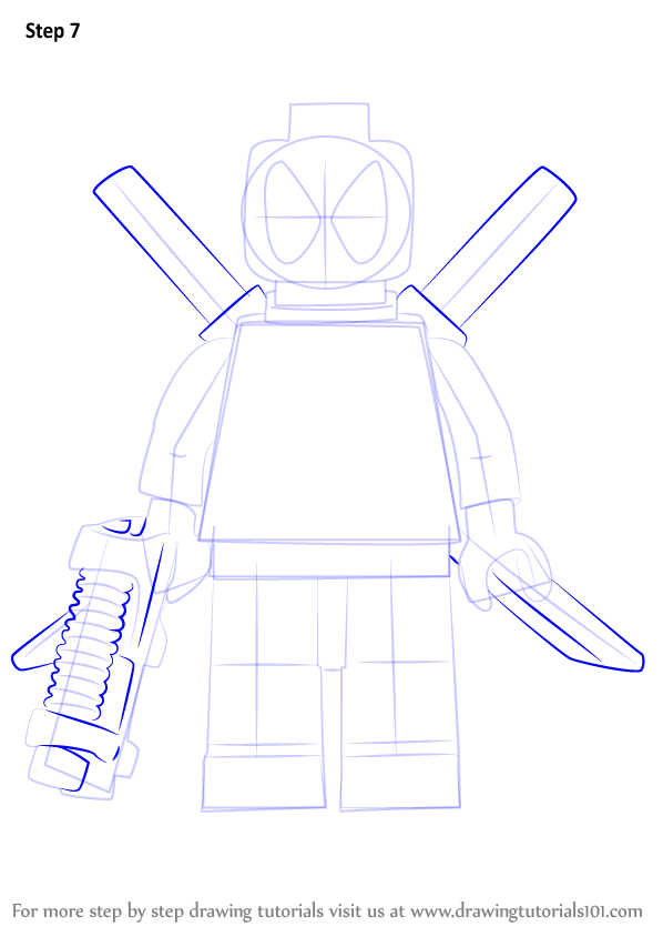 learn how to draw lego deadpool lego step by step drawing