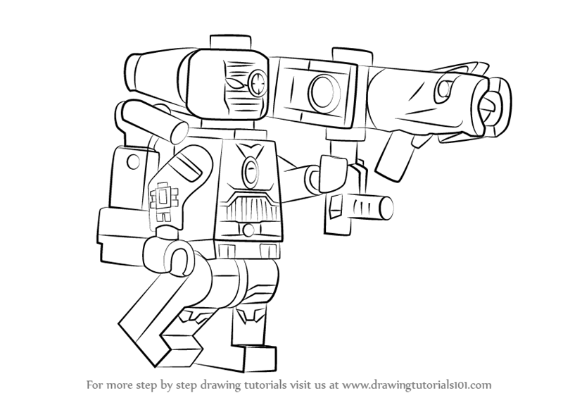 Learn How To Draw Lego Deadshot (Lego) Step By Step