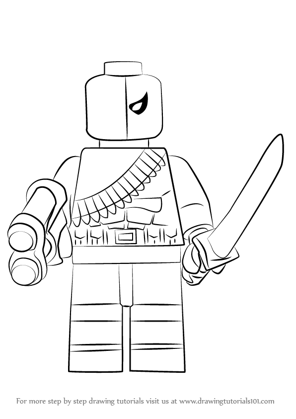 Learn how to draw lego deathstroke lego step by step drawing tutorials