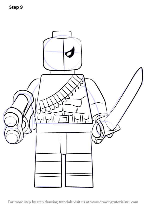 Learn How To Draw Lego Deathstroke Lego Step By Step