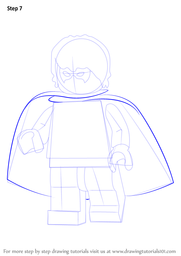 Learn How To Draw Lego Dick Grayson Aka Robin Lego Step