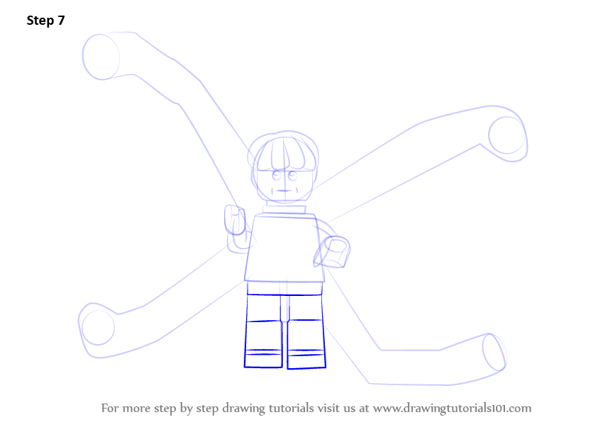 how to draw lego spiderman step by step
