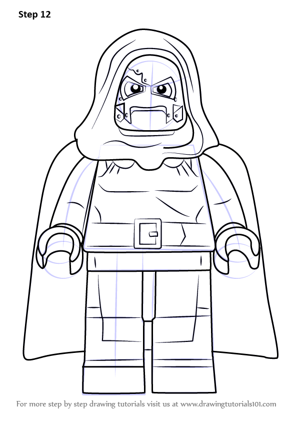Learn How To Draw Lego Dr Doom Lego Step By Step Drawing Tutorials